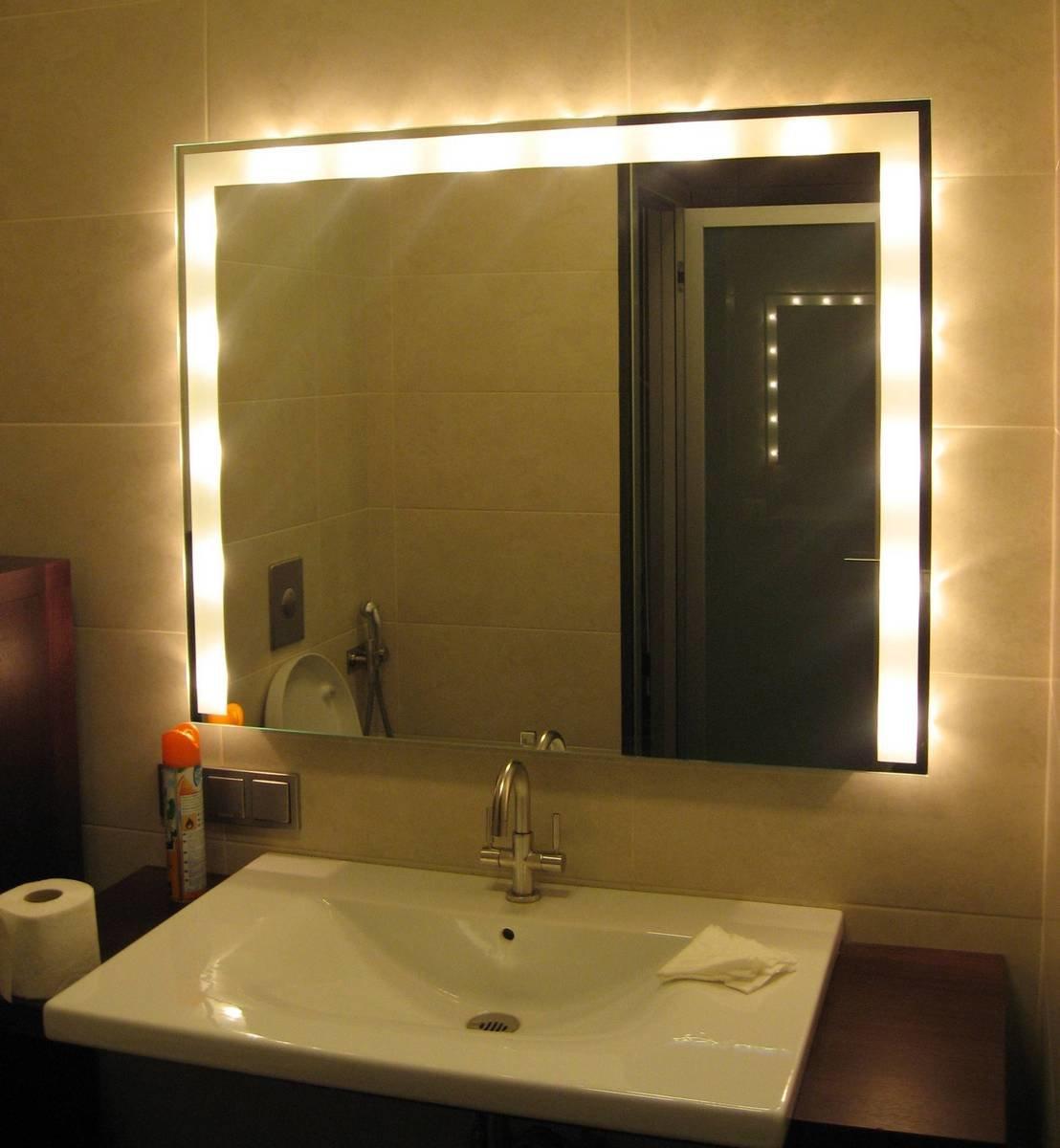 Зеркало для ванной с полочками своими руками