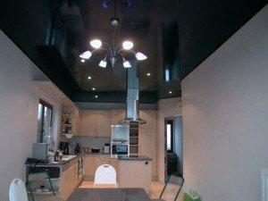 матовый потолок черного цвета