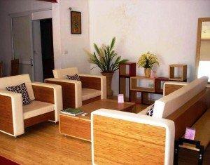 мебель из бамбука в интерьере