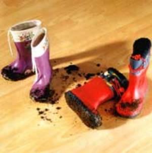 удалить следы от обуви