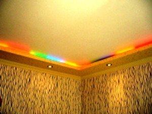 цветная подсветка в интерьере