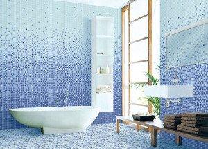 мозаичные покрытия в ванной