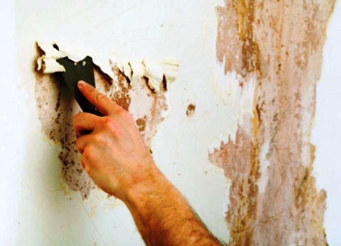 зачищаем стены квартиры