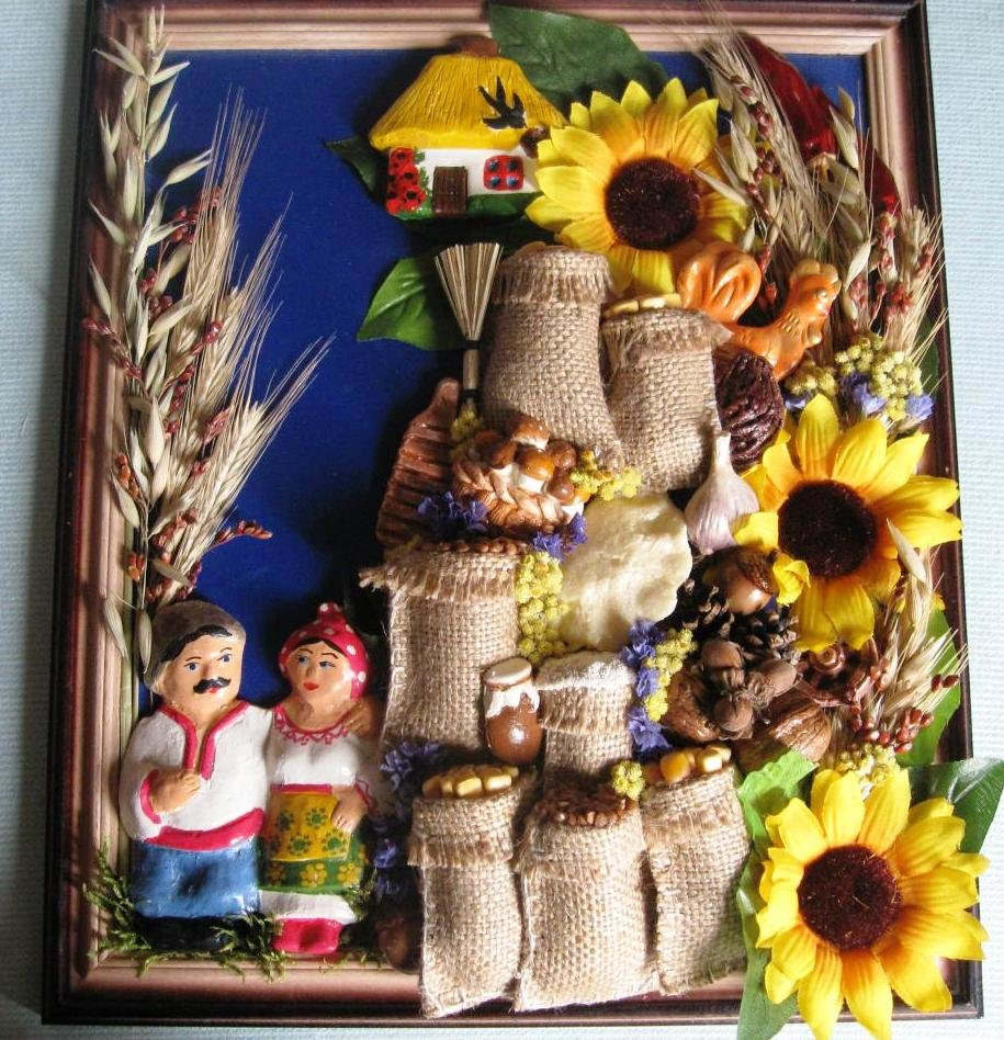 декор для кухни в украинском стиле
