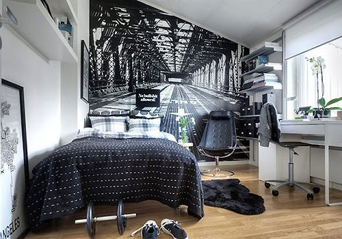 идея для спальни - фотообои