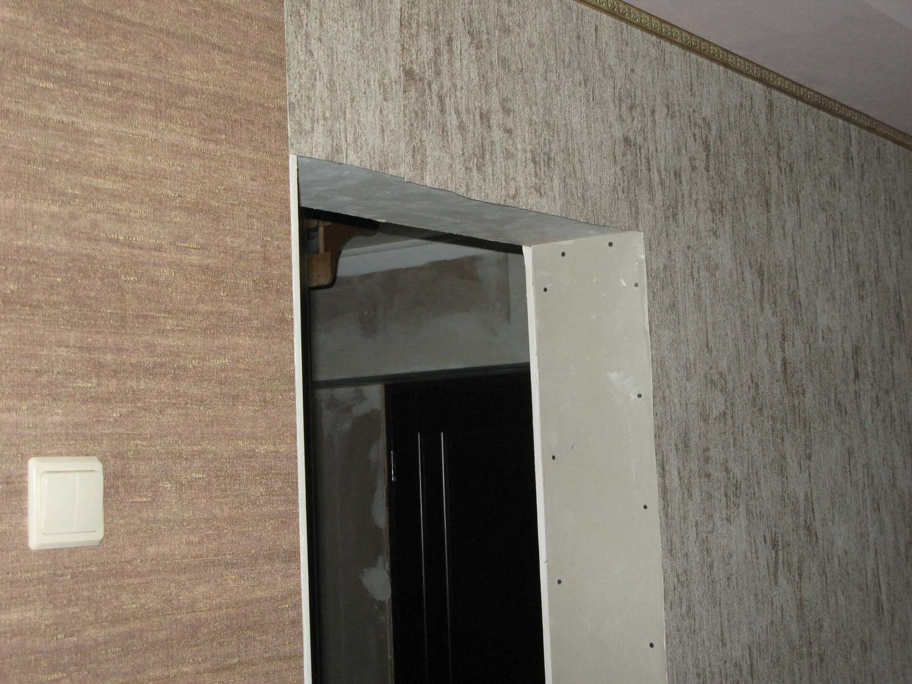 дверной проем из гипсокартона
