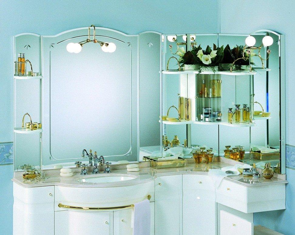 мебель светлых тонов для ванной комнаты