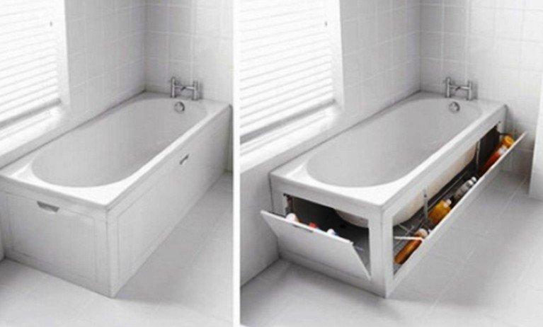 откидной экран под ванной