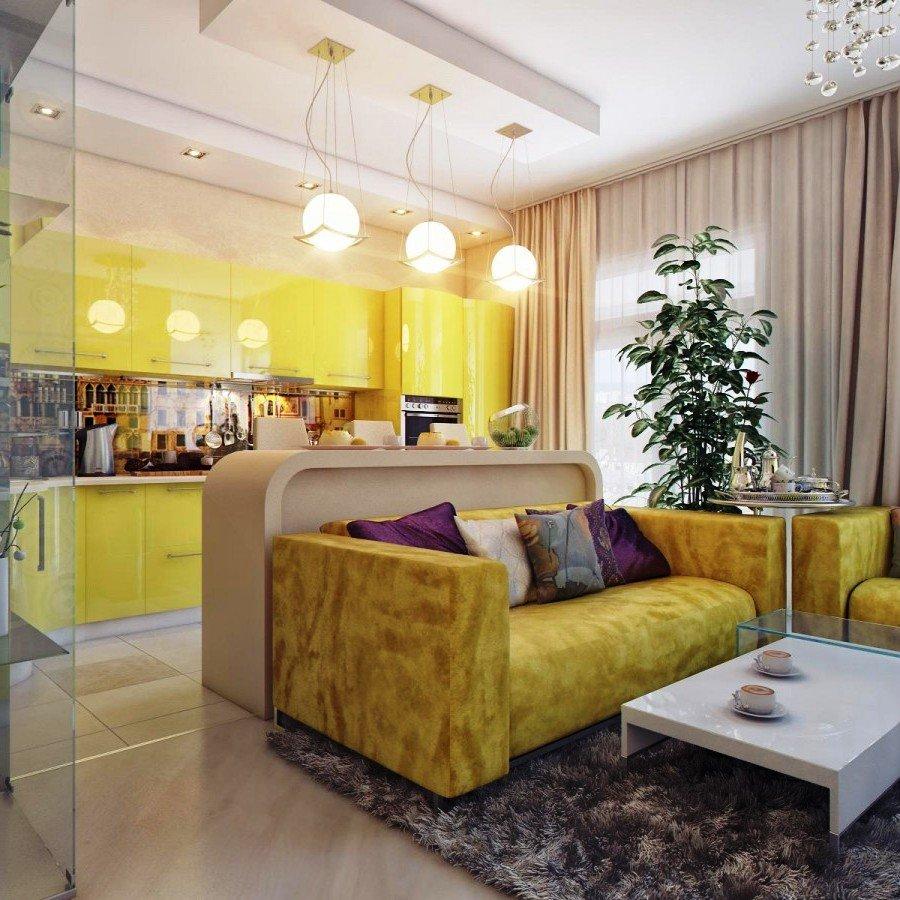стеклянная перегородка в интерьере квартиры