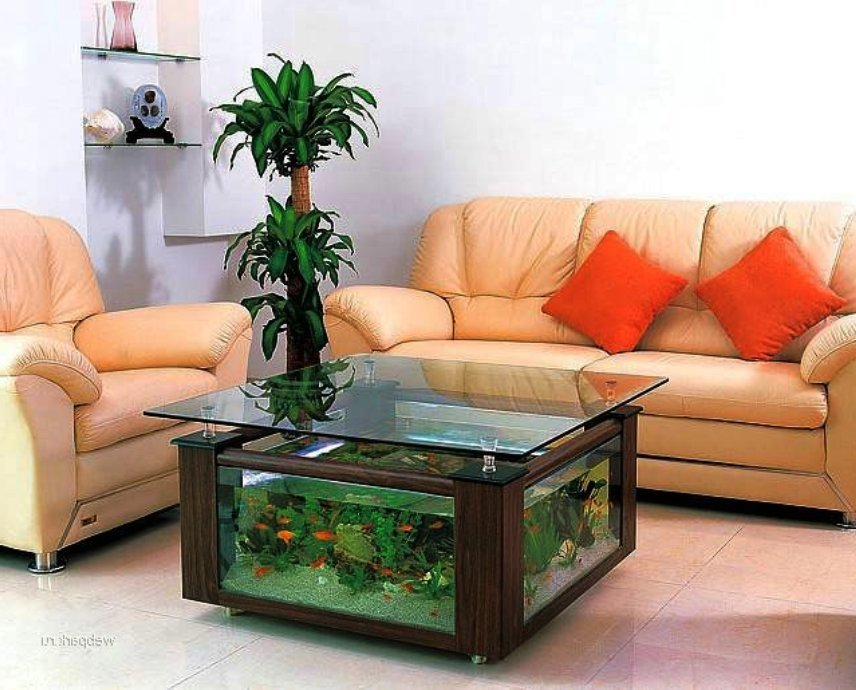 аквариумы встроенные в мебель