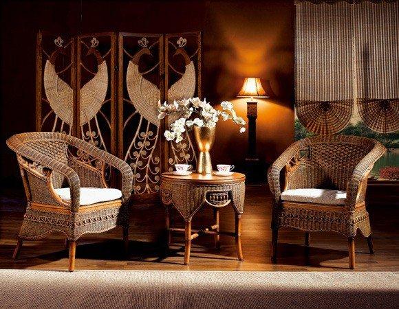 мебель из ротанга - обязательный элемент китайского интерьера