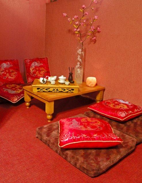 место отдыха в стиле китайской чайной церемонии
