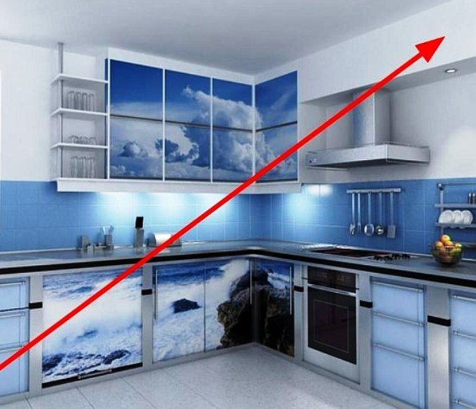 чтож как закрыть вытяжку на кухне фото стильный спальный