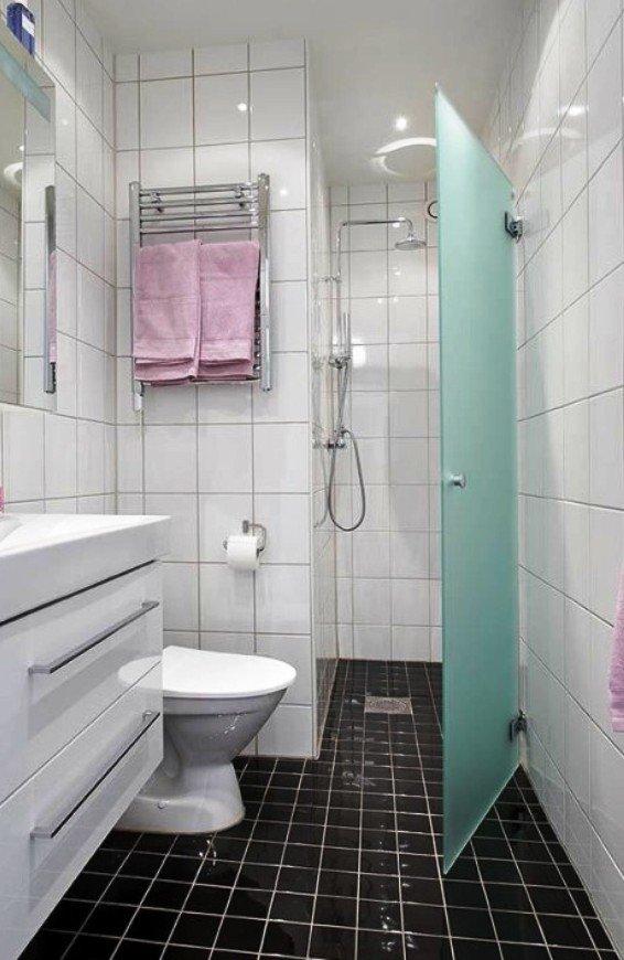 ниша в ванной комнате для устройства душевой