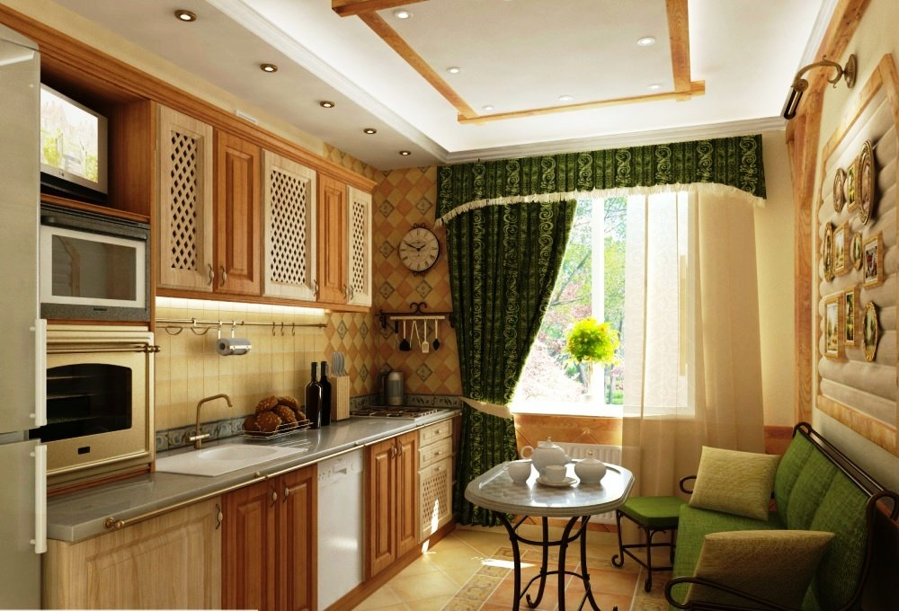 Дизайн кухни 10 кв с балконом фото. дизайн кухни 10 кв м - 5.