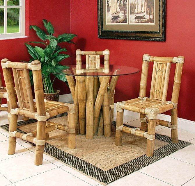 мебель изготовленная из бамбука