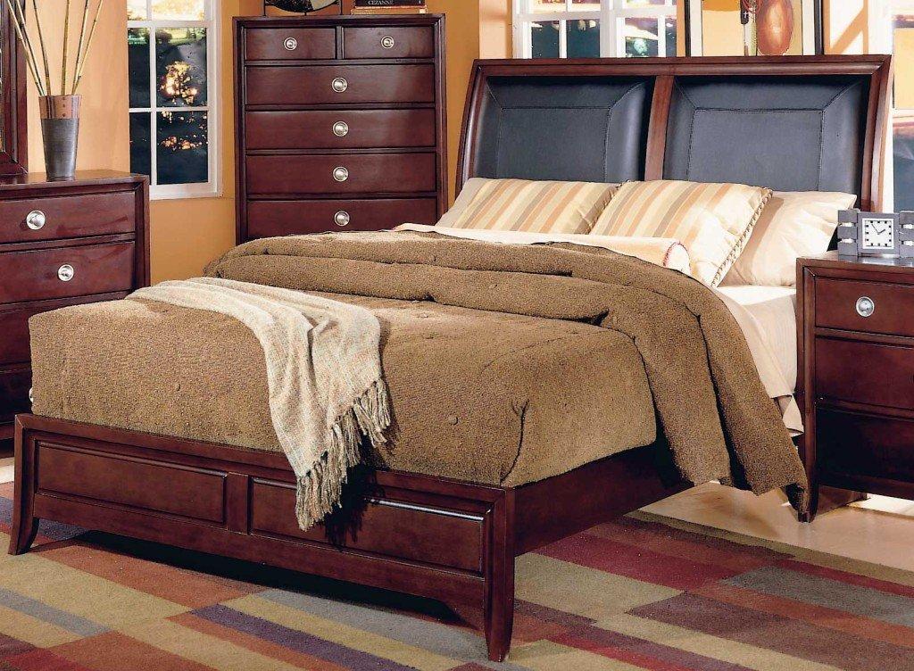 кожаное изголовье кровати