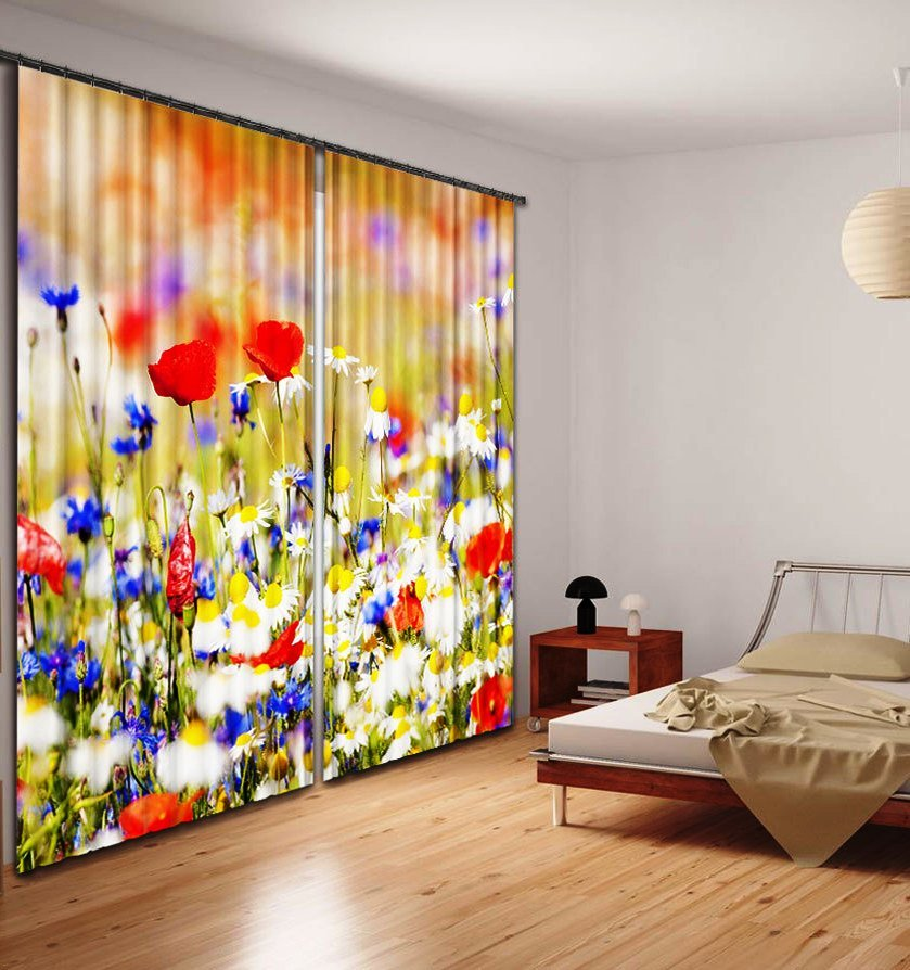 цветочные мотивы в дизайне фотоштор