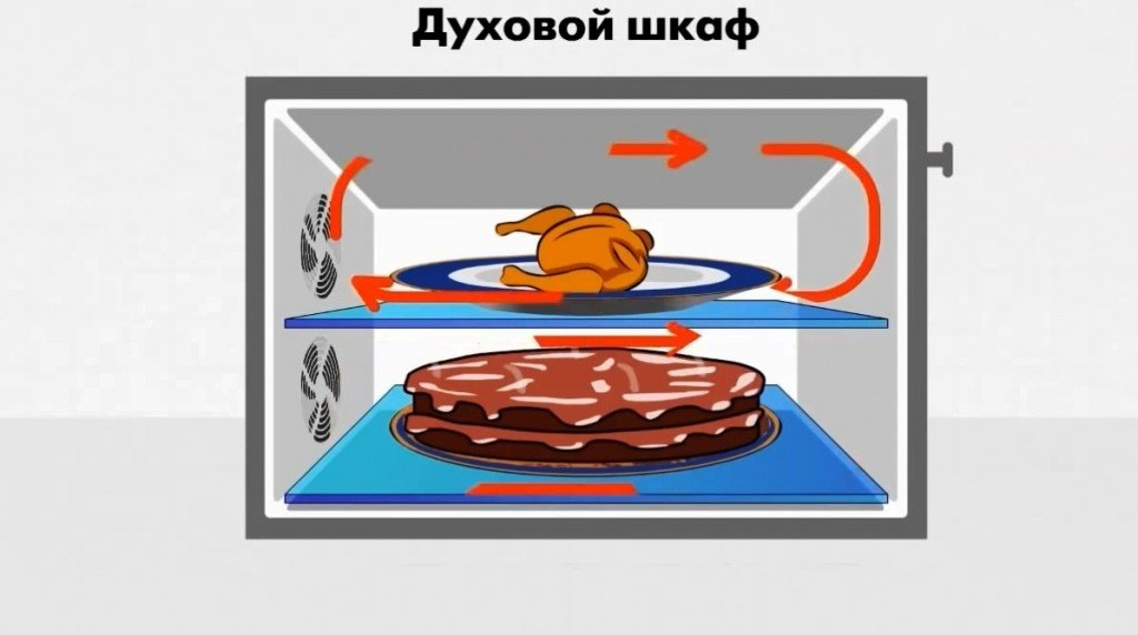 духовка с несколькими конвекторами