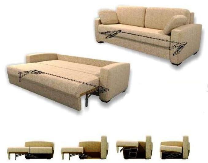 """диван с системой раскладывания """"дельфин"""""""