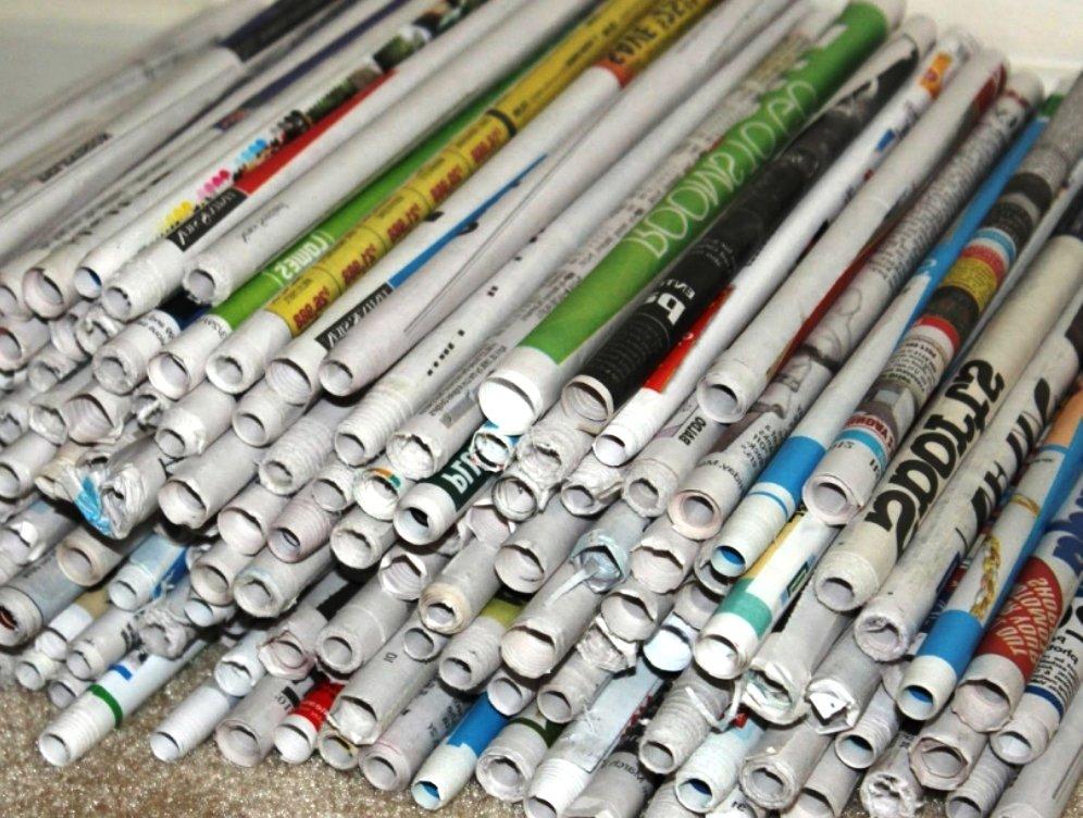 бумажные трубочки изготовленные своими руками