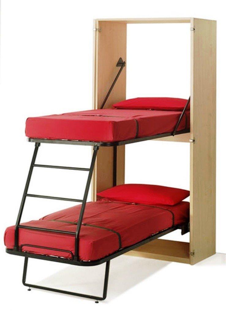 двухэтажные кровати-шкафы