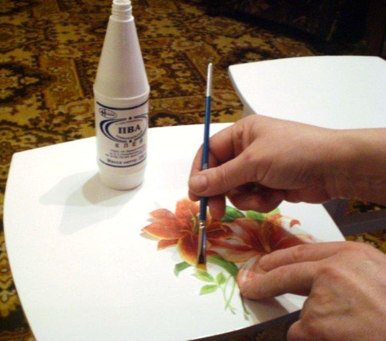 нанесение рисунка на основу