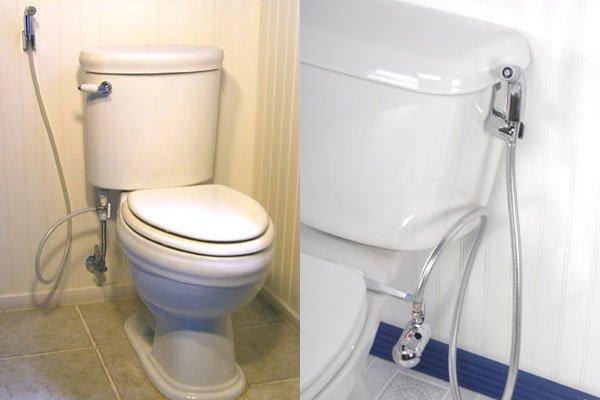 душ подключенный непосредственно к подаче унитаза