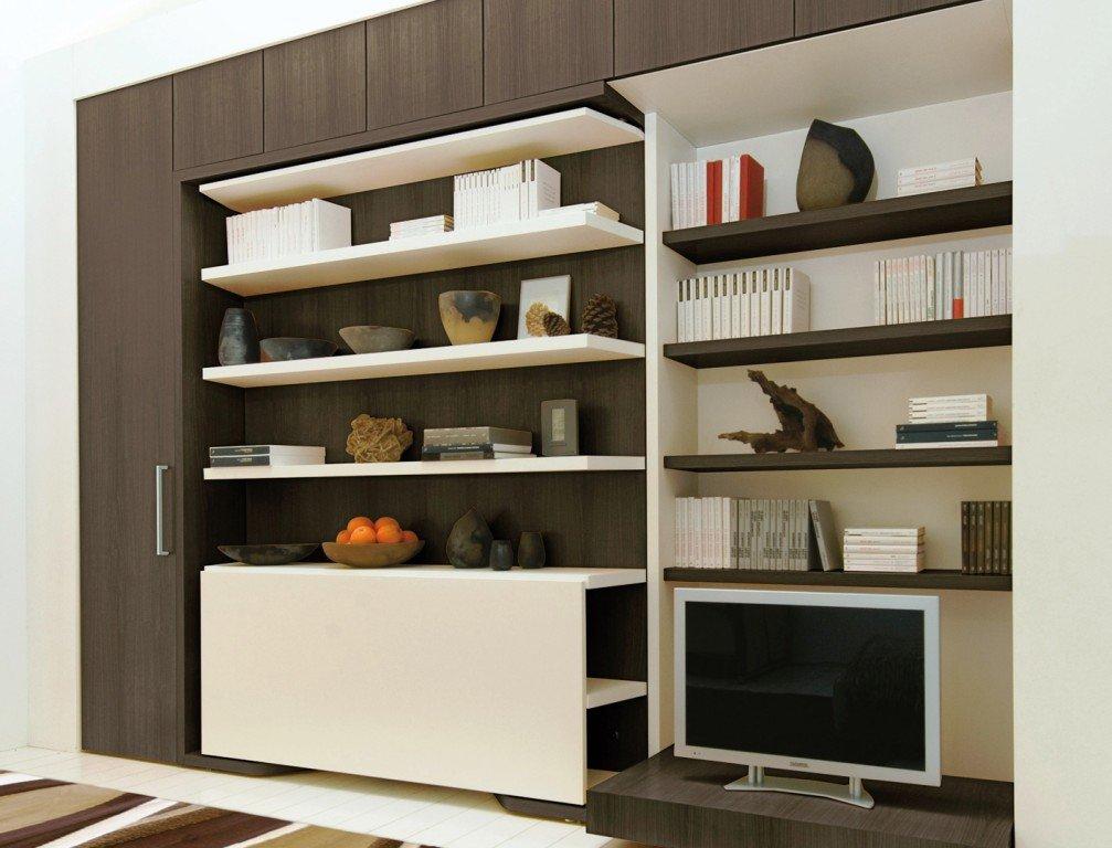 мебель для гостиной -  комбинированные стеллажи