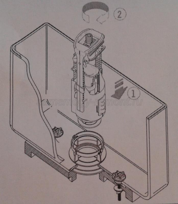 установка сливной арматуры
