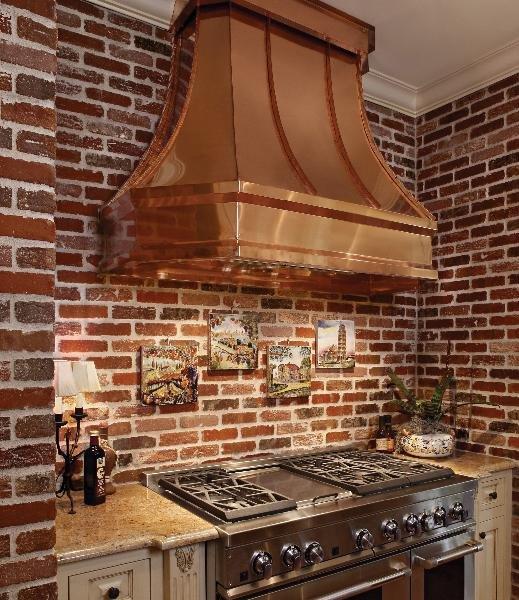плитка под кирпич в оформлении кухни