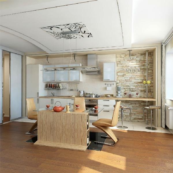 кухня-гостиная на небольшой площади