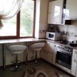кухня 6 метров с холодильником