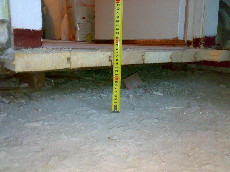 средняя высота деревянного поло над перекрытием