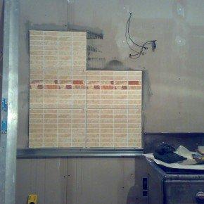 начало создания кухонного фартука
