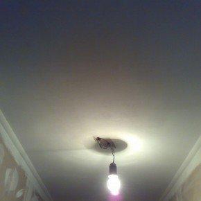 шпаклеванный потолок