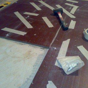 плитка на полу санузла