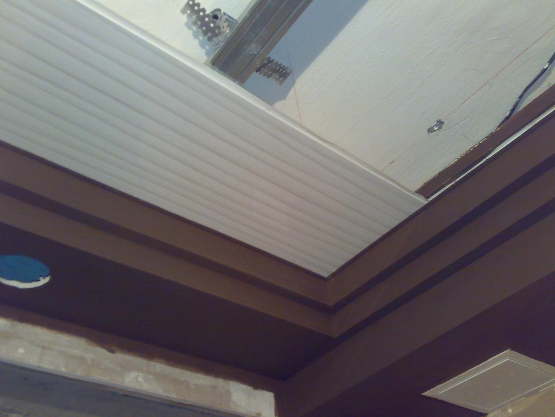 первая панель кухонного потолка