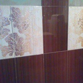 первые два ряда плитки в санузле