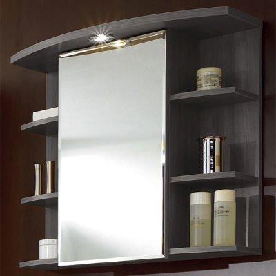 зеркало для ванной с полочками