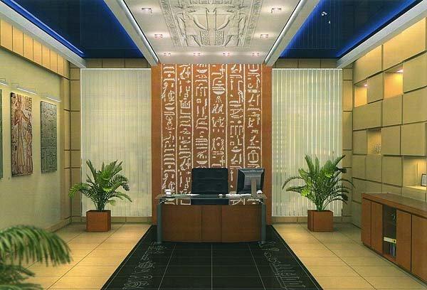 Оформление рабочего кабинета в египетском стиле