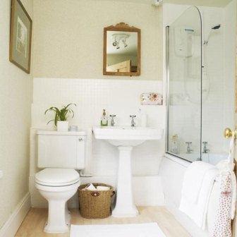 цветовая палитра маленькой ванной