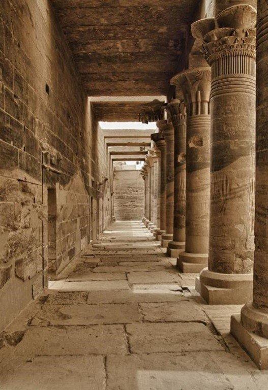 Украшение дворца рядом колонн