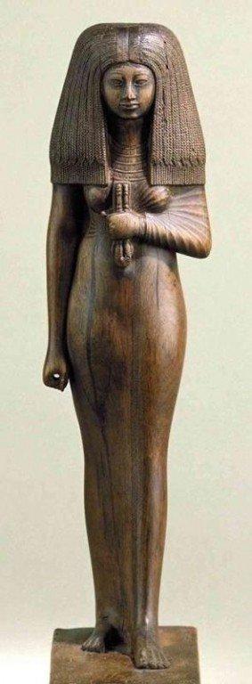 Деревянная египетская статуэтка