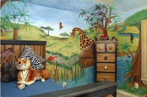 животный мир в оформлении комнаты