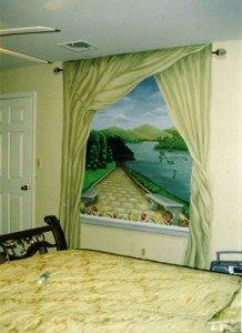 нарисованные окна