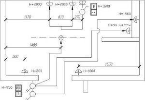 план электропроводки в квартире