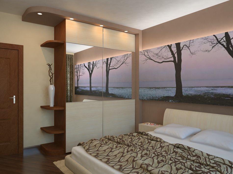Дизайн длинной однокомнатной квартиры