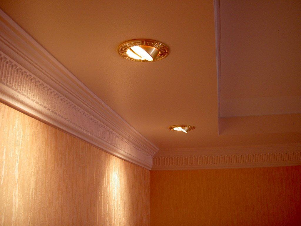 установка светильников в одну линию