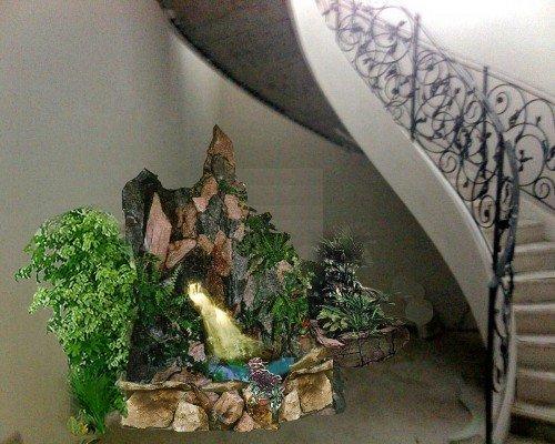 увлажнение квартиры с помощью фонтана